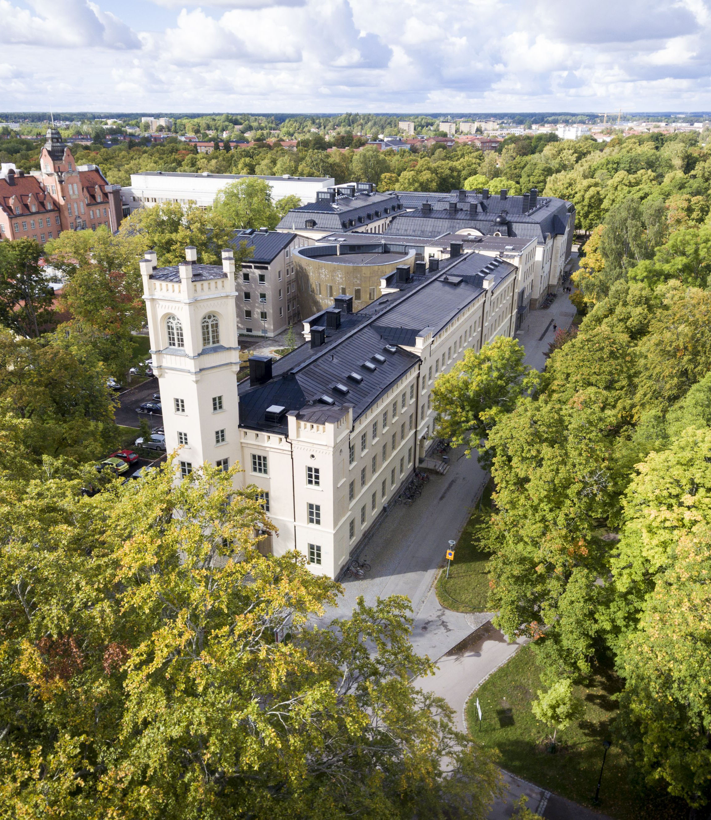 Arial view of Engeslka Parken campus