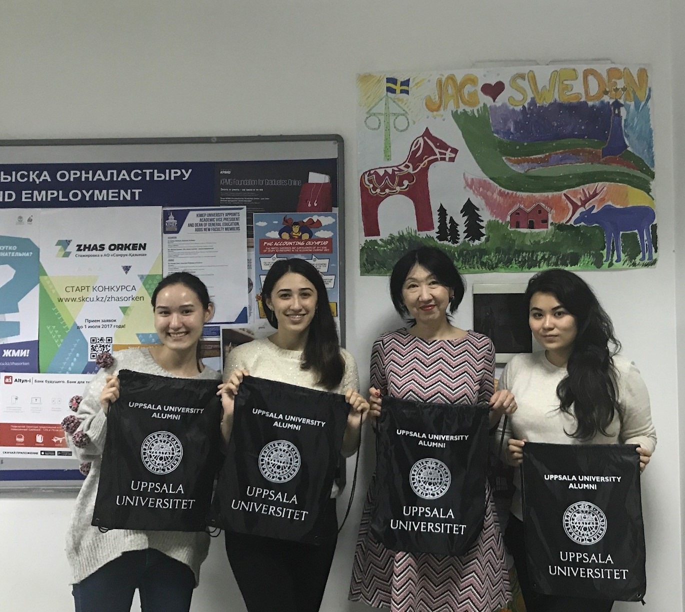 Alumni celebrating Global Alumni Day 2017 in Almaty